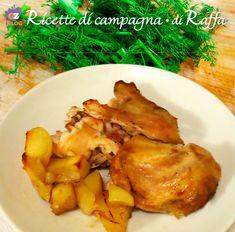 Coniglio in porchetta con le patate Roast sucking rabbit with potatoes