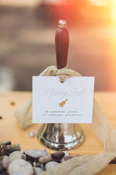 Kissing Bell - Stunning Island Wedding in Spetses Greece. #Wedding #Details