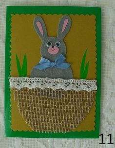 Easter scrapbooking card Craft Corner, Handmade Decorations, Scrapbook Cards, Scrapbooks, Card Making, Easter, How To Make, Crafts, Manualidades