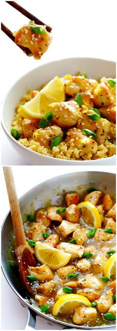 SKINNY HONEY LEMON CHICKEN | Cookboum