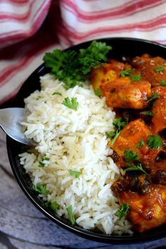 Tikka masala tofu and black bean bowl