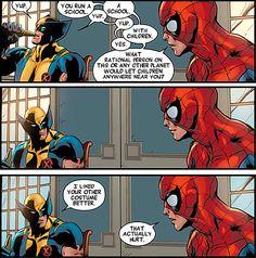 Wolverine and Spider-man conversation