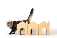 Nekohomu, House shaped cardboard scratchers, just for cats