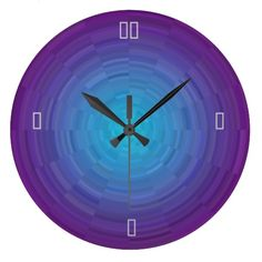 Purple Blue Illuminated >Patterned Wall Clock