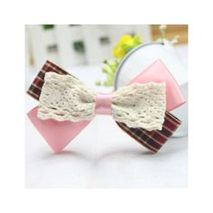 Elegent Plaid Lolita Side Hairpin via Polyvore featuring accessories