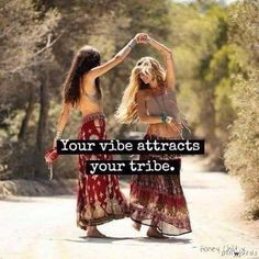 Your vibe attracts your tribe. #barefootalk