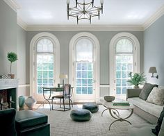 French windows: long sash windows hinged to the side . The window extends down to the floor and serves as a door.