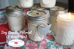 Homemade Soy Candles (5 easy steps)