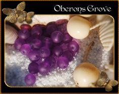 4mm frosted glass beads, mauve, hole:1mm 4mm malvenfarbene gefrostete Glasperlen, Lochgröße: 1mm