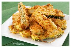 Crunchy Oven-Fried Zucchini Sticks from MyGourmetConnection