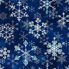 Snowflake crystals in royal blue by adenaj Christmas Fabric, Spoonflower, Snowflakes, Royal Blue, Crystals, Decor, Decoration, Snow Flakes, Crystal