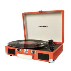 Peach Portable Record Player - Stellar Office Setups Collection - Dot & Bo