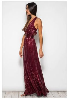 PLAY ON CURVES RED LOW CUT SEQUIN MAXI DRESS WITH OPEN BACK | Ledyz Fashions.com is an Online Style Destination for Must Have Fashions, Hottest Styles, and Unique Quality Clothing