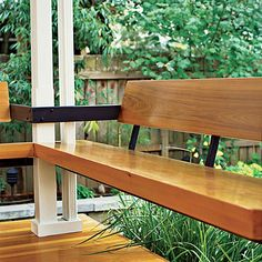 bench seating up close