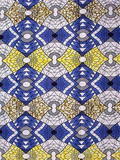 Tissu africain imprimé Super Wax 6 mètres 100 % coton sw806005
