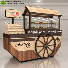 Customize Sushi Food Cart,Mobile Sushi Shopping Mall Cart for sale Food Cart Design, Food Truck Design, Stand Design, Booth Design, Vendor Cart, Coffee Food Truck, Mobile Coffee Shop, Bike Food, Preschool Decor