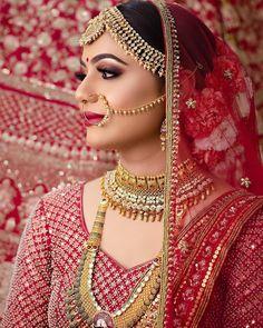 What a beauty! 😍 . . . MUA @jasmine_beauty_care . . . #indianbridalmakeup #bridalmakeover #indianweddingmakeup #weddingmakeover #makeupartistindia #bridalphotos #bridalmakeupartist Bridal Makeup Images, Bridal Makeup Looks, Wedding Makeover, Indian Wedding Makeup, Wedding Function, Lehenga Designs, Photo Makeup, Beauty Care, Bride