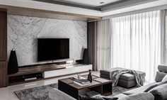 argument about modern tv feature wall interiors 31 Living Room Modern, Living Room Interior, Home Living Room, Home Interior Design, Living Room Decor, Tv Feature Wall, Le Logis, Modern Tv Wall Units, Living Room Tv Unit Designs