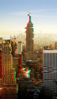 Empire State Glitch by Susannah Quick- from my Photoshop for Lunch™ - Reusable Video Glitch Effect course