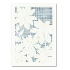 Perfect wedding invitation for a garden or spring wedding. We love the white flowers against the blue background!