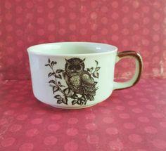 Vintage Owl Soup Mug by 5and10vintage on Etsy