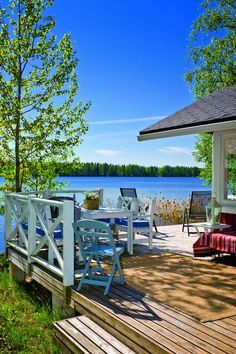 Outdoor Furniture Sets, Outdoor Decor, Terrace, Beautiful Places, Yard, Patio, Cottages, Interior Design, House