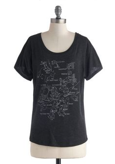 Take Constellation Tee - Mid-length, Jersey, Print, Casual, Scholastic/Collegiate, Short Sleeves