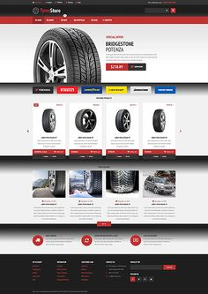 Tyre Online Store #WooCommerce #template. #themes #business #responsive