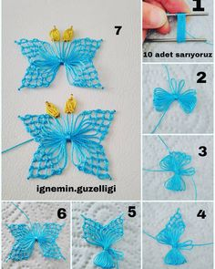 Over 100 free beginners knitting patterns and projects - Knitting Projects Hand Embroidery Stitches, Embroidery Techniques, Crochet Stitches, Embroidery Patterns, Crewel Embroidery, Needle Tatting, Needle Lace, Crochet Butterfly, Crochet Flowers