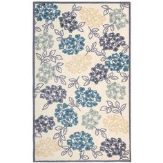 """Nourison Floral 26"""" x 45"""" Accent Rug ($55) ❤ liked on Polyvore featuring home, rugs, no color, nourison area rugs, flora rug, floral area rug, flowered rugs and nourison rugs"""