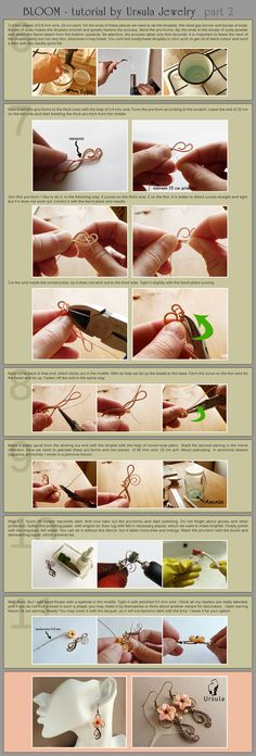 Jewelry Tutorial - Bloom earrings - part 2 by UrsulaOT.deviantart.com on @deviantART