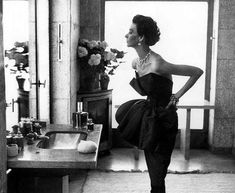 Richard Avedon Dorian Leigh Evening dress by Piguet