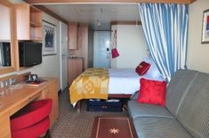 The staterooms on the Disney Fantasy.