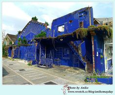 "Street art  ""Blue Print"" in Haian Rd. Tainan #Taiwan  台南 藍晒圖"