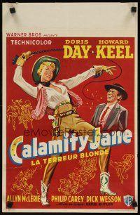 8y028 CALAMITY JANE Belçika '55 Howard Keel, şirin cowgirl sanatı Doris Day başlık rolünde!