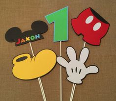 Mickey Mouse Birthday Party Centerpiece by OneStopPartyShoppe