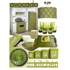 Vintage Kitchen ~ Avocado, not just a fruit...