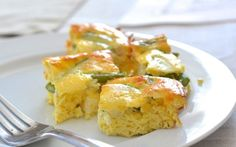 Asparagus & Feta Squares - crustless, easy, and delicious!