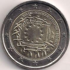 Motivseite: Münze-Europa-Westeuropa-Belgien-Euro-2.00-2015-Europaflagge