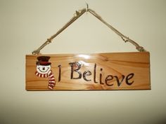 Christmas Sign... wood burning/pyrography and acrylic paint