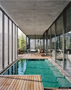 Stock Tank Swimming Pool Ideas, Get Swimming pool designs featuring new swimming pool ideas like glass wall swimming pools, infinity swimming pools, indoor pools and Mid Century Modern Pools. Find and save ideas about Swimming pool designs. Swimming Pool House, Swimming Pool Designs, Lap Swimming, Indoor Pools, Moderne Pools, My Ideal Home, Summer Pool, Summer Time, Luxury Houses
