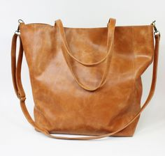 Leather Bags – Nordic Shopping Bag Rudy Leather – a unique product by ZuziaGorska on DaWanda