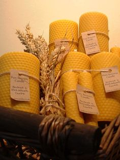beeswax candles ... Roll your own