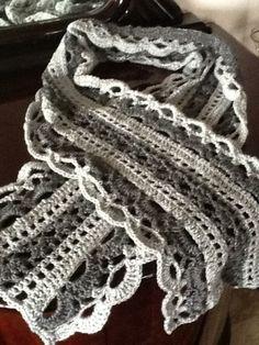 silver grey scarf
