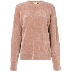 Nude chenille sweater ($236) ❤ liked on Polyvore featuring tops, sweaters, beige sweater, beige top, chenille sweater, long sleeve tops and long sleeve sweater