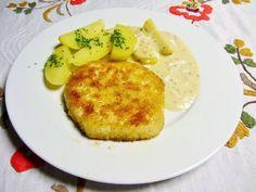 Die Vegankocherin: Sellerieschnitzel mit Senfsoße und Salzkartoffeln