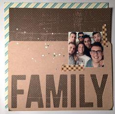 mini LO kraft (la card pl con scritta family)