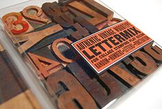 Authentic Vintage Woodtype Lettermix | gifts for designers