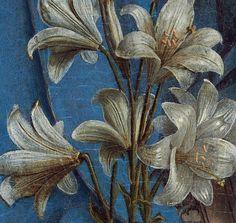 Details from Jan Van Eyck's Annuncation, c. 1434-1436