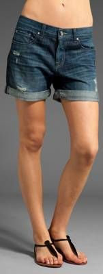 Feel like your wearing HIS jeans! The boyfriend shorts is one of the hottest trends this summer